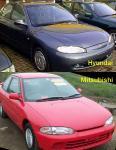 Hyundai Elantra, второе поколение | Mitsubishi
