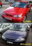 Hyundai Elantra, первое поколение, рестайлинг | Mitsubishi