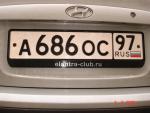 Клубные рамки elantra-club.ru (хром)